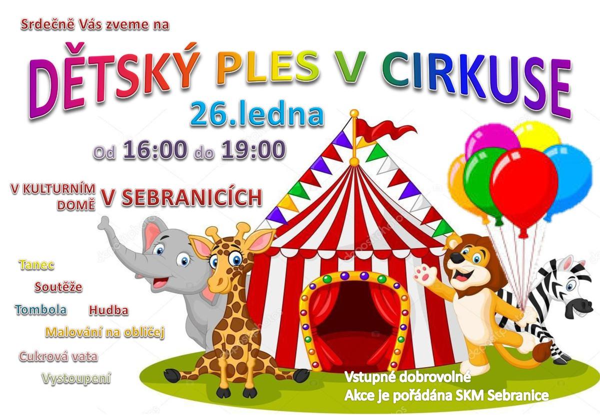 Pozvánka na Dětský ples v cirkuse