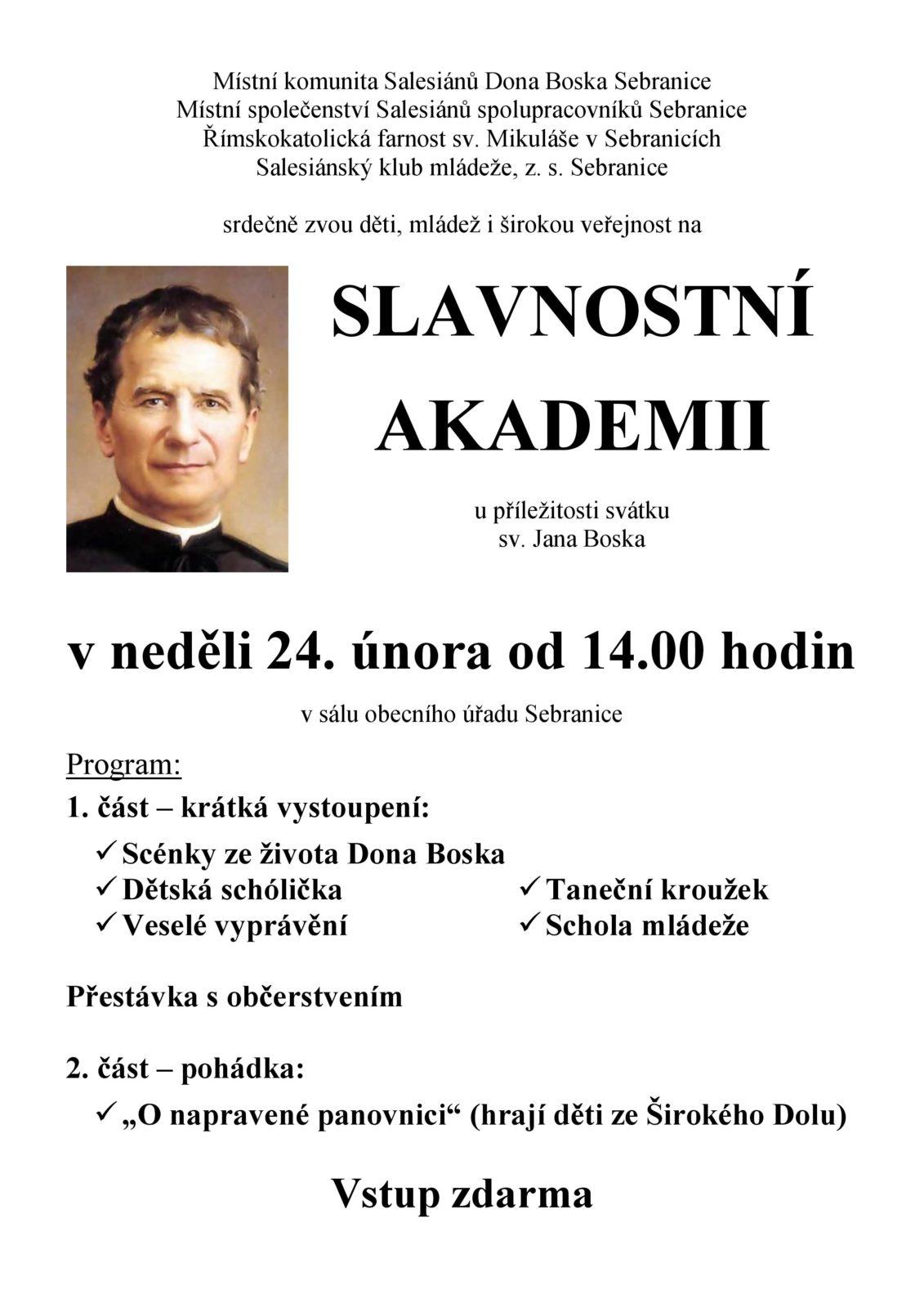 Pozvánka - Akademie Dona Boska
