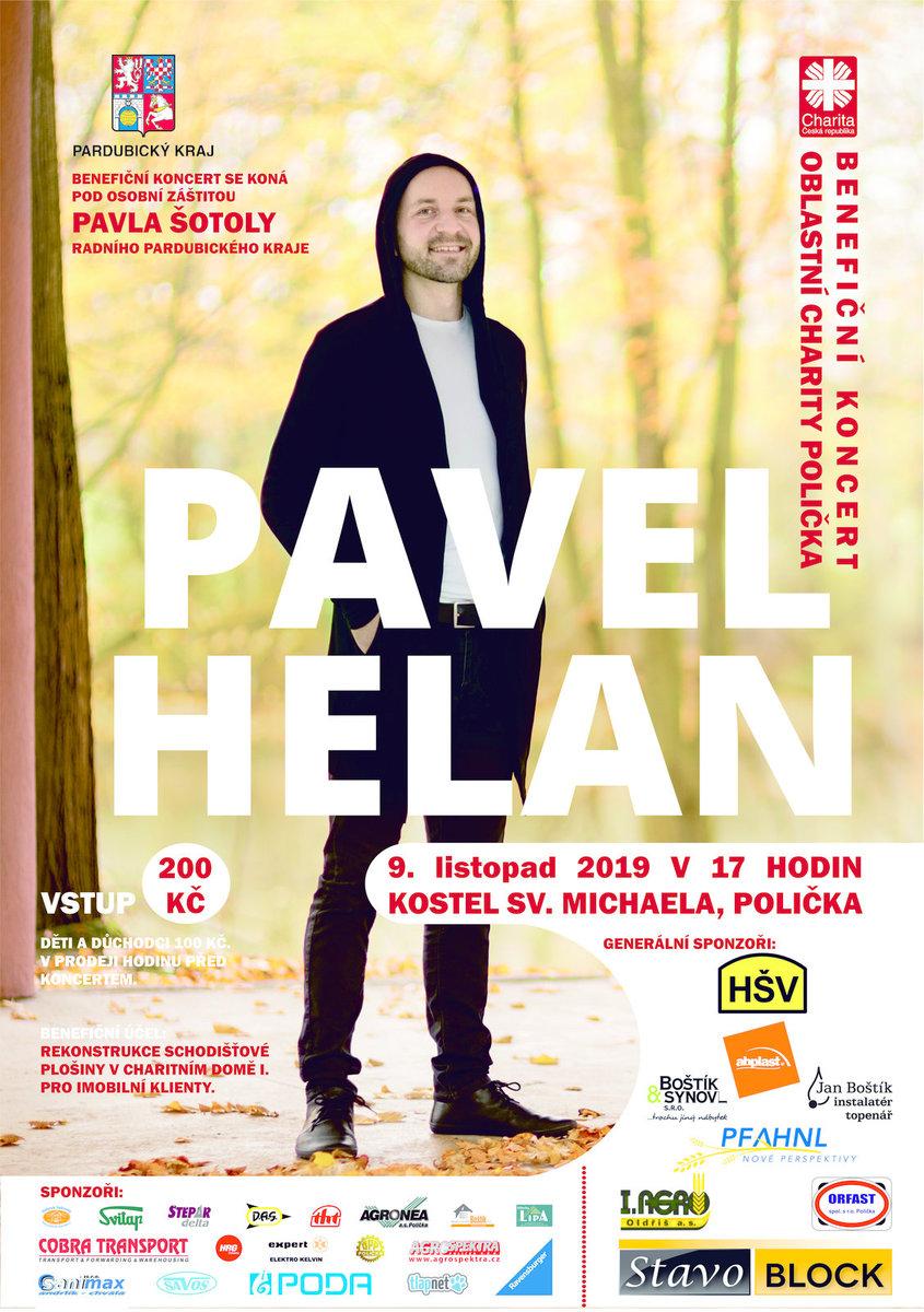 Pozvánka - Benefiční koncert - Pavel Helan