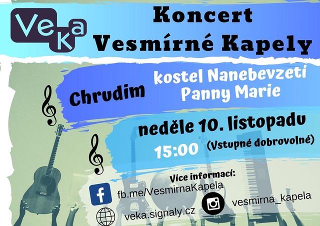 Pozvánka - Koncert skupiny VeKa v Chrudimi