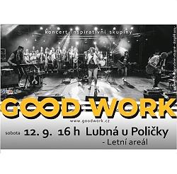Koncert GOOD WORK Lubná - pozvánka