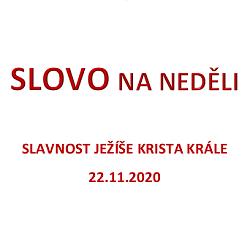 SLOVO NA NEDĚLI 22. 11. 2020
