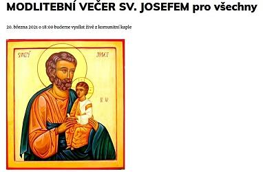MODLITEBNÍ VEČER SV. JOSEFEM pro všechny