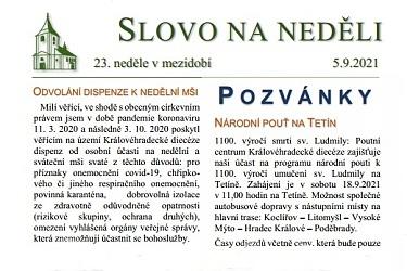 SLOVO NA NEDĚLI 5. 9. 2021