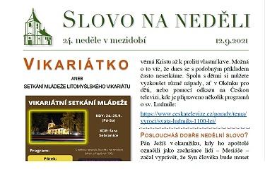 SLOVO NA NEDĚLI 12. 9. 2021
