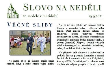 SLOVO NA NEDĚLI 19. 9. 2021