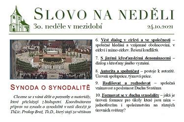 SLOVO NA NĚDĚLI 24. 10. 2021